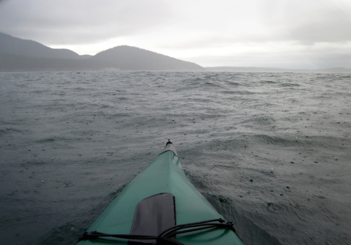 02 Approaching Bellingham Channel in the rain.JPG