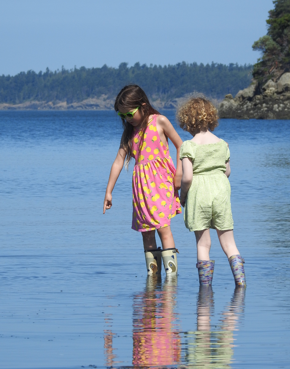 12 Maya and Chelsea wading Fox Cove.jpg