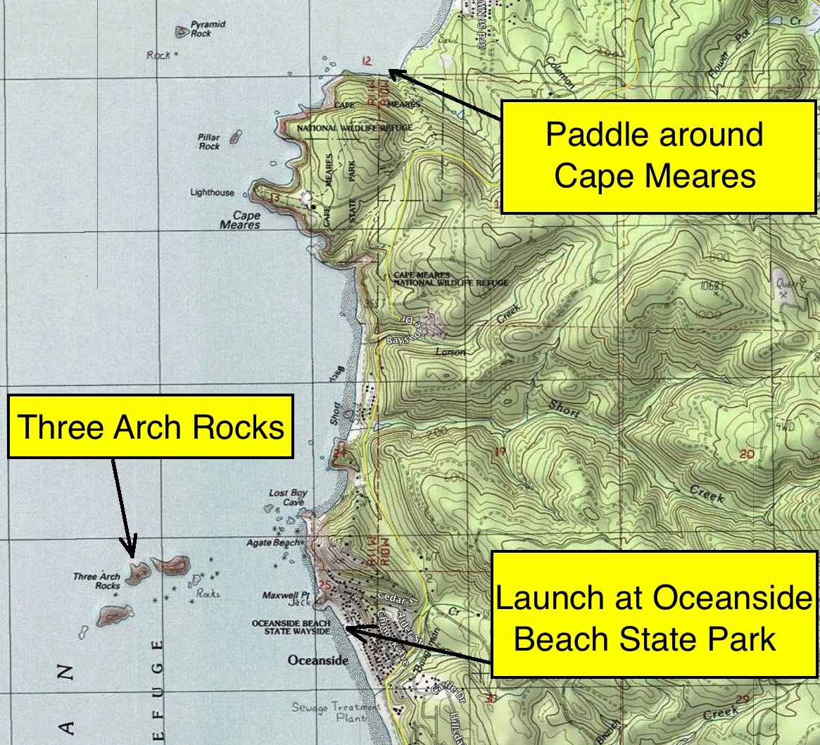Route map Cape Meares topo.jpg